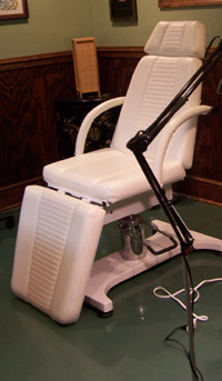 Laser tattoo removal chair