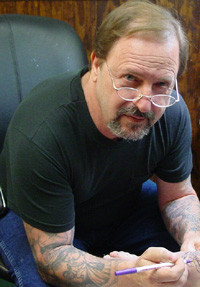 Roanoke tattoo artist Danny Fowler, the founder of Ancient Art Tattoo and Body Piercing Studios